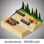 vector isometric illustration... | Shutterstock .eps vector #390281164