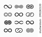 Infinity symbol icons vector illustration