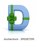 colorful letter d decorated...   Shutterstock . vector #390287290