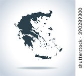 map of greece | Shutterstock .eps vector #390289300
