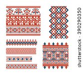 set of red and blue traditional ...   Shutterstock .eps vector #390290350