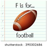 flashcard letter f is for... | Shutterstock .eps vector #390302686