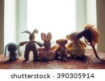 Children's Toys On Wooden Floo...