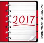 2017 agenda. red office...