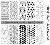 collection of black and white... | Shutterstock .eps vector #390310888
