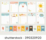big set of romantic and cute... | Shutterstock .eps vector #390320920