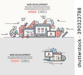 web development for website... | Shutterstock .eps vector #390323788