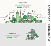 green city for website banner... | Shutterstock .eps vector #390323806