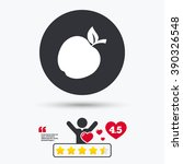 Постер, плакат: Apple icon Apple flat
