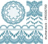 vector set of design elements ... | Shutterstock .eps vector #390330700
