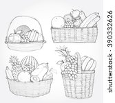 hand drawn illustration set of...   Shutterstock .eps vector #390332626