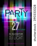 party flyer. nightclub flyer.    Shutterstock .eps vector #390333328