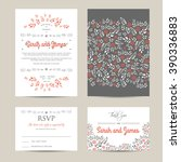 wedding floral set with...   Shutterstock .eps vector #390336883