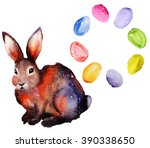 easter set. watercolor | Shutterstock . vector #390338650