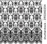 seamless lace pattern  flower...   Shutterstock .eps vector #390340354