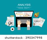 concepts for business planning... | Shutterstock .eps vector #390347998