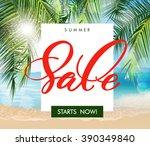 summer sale concept. summer... | Shutterstock .eps vector #390349840