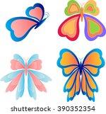 butterflies vectors  insects   Shutterstock .eps vector #390352354