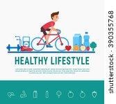 flat design style. healthy...   Shutterstock .eps vector #390355768