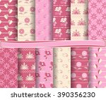 set of abstract vector paper... | Shutterstock .eps vector #390356230
