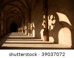Shadow Shapes In Hallway Of...