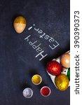 easter eggs  happy easter | Shutterstock . vector #390390373