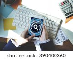 business person phone network... | Shutterstock . vector #390400360
