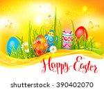 happy easter sunny backdrop for ...   Shutterstock .eps vector #390402070