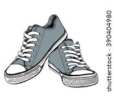 Gray Gym Shoes   By Hand The...