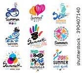 Summer Vacation Logo. Tropical...