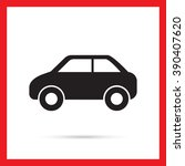 passenger car icon | Shutterstock .eps vector #390407620