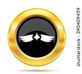 wings icon. internet button on...   Shutterstock .eps vector #390409459