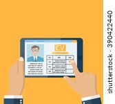 job interview concept.... | Shutterstock .eps vector #390422440