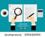 concepts for business planning... | Shutterstock .eps vector #390430090