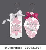 set of elegant cards with pink  ... | Shutterstock .eps vector #390431914