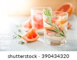 summer refreshing drink and... | Shutterstock . vector #390434320