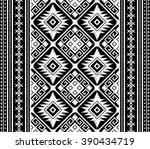 doodle tribal aztec seamless... | Shutterstock .eps vector #390434719