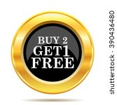 buy 2 get 1 free offer icon.... | Shutterstock .eps vector #390436480