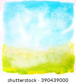 watercolor brushed abstract... | Shutterstock . vector #390439000