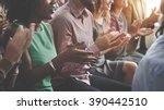 audience applaud clapping... | Shutterstock . vector #390442510