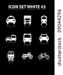 icon set white  2 | Shutterstock .eps vector #39044296