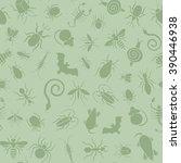 vector green seamless pattern... | Shutterstock .eps vector #390446938