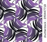 purple floral pattern with... | Shutterstock . vector #390447718