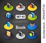 isometric flat icons  3d... | Shutterstock .eps vector #390449710