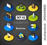 isometric flat icons  3d... | Shutterstock .eps vector #390449800