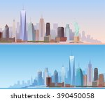 banners of the urban landscape... | Shutterstock . vector #390450058
