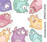 vector cartoon monsters | Shutterstock .eps vector #390471454
