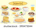 collection of delicious... | Shutterstock .eps vector #390473044