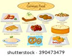 collection of delicious german... | Shutterstock .eps vector #390473479