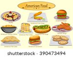 collection of delicious... | Shutterstock .eps vector #390473494
